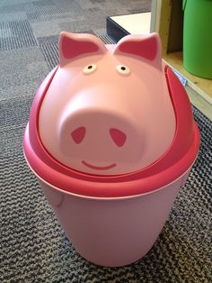 Pig Trash Can from #thecontainerstore