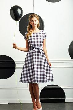 Shabby Apple Pretty in Plaid Dress