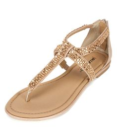 079685ce48 Look at this Rialto Gold Rhona T-Strap Sandal on #zulily today! Wide