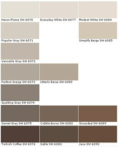 Soft autumn beige brown ... Darkest color in my hair is Garrett Grey - 1st column, 2nd from bottom, top left is my lightest