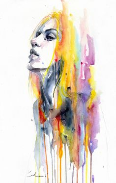 Beautiful new watercolour, 'Sunshower' by agnes-cecile