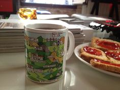 La Mestaina in Barcelona!!! A spanish tourist has sent this picture!! glad you had great fun in Tuscany.  Cup by LaMestaina.