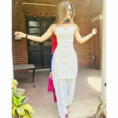 Latest Punjabi Suit Design With Multi Dupatta Latest Punjabi Suit Design With Multi Dupatta Salwar Designs, Patiala Suit Designs, Kurta Designs Women, Kurti Designs Party Wear, Punjabi Dress, Pakistani Dresses, Indian Dresses, Indian Outfits, White Punjabi Suits