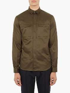 Valentino Khaki Cotton Utility Shirt The Valentino Cotton Utility Shirt, seen here in khaki. - - - This shirt from Valentino is crafted in Italy from premium cotton and features a number of utility-style pockets to the chest. - - - -Prem http://www.MightGet.com/january-2017-13/valentino-khaki-cotton-utility-shirt.asp