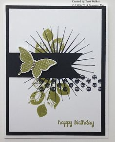 Kinda Eclectic stamp set b'day card via @nutzaboutstamps #saygdayparty