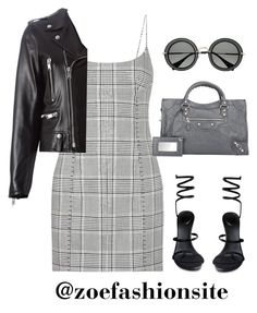 """""""Untitled #555"""" by zoefashionsite ❤ liked on Polyvore featuring Alexander Wang, Yves Saint Laurent, René Caovilla, Balenciaga and Miu Miu"""