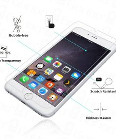 Glass Screen Protector for iPhone 4 4S 5 5S 5C SE 6 6s 7 Plus
