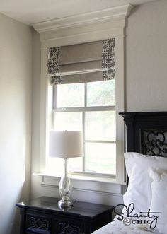 Roman Shades- I'll need this when we redo the bedroom!
