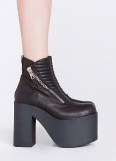 UNIF Neo Boot. I LOVE these!!!  I haven't liked UNIF's shoes that much in the past but these are a whole different story.  Something about platforms that look like they belong in an anime calls to me, and it helps that they look super comfy.