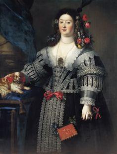 Nicolas Regnier (1638) - Maria Farnese (1615-1646), moglie di Francesco I d'Este, duca di Modena e Reggio - Collezione Pardo Parigi