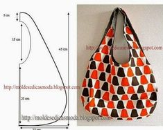 Sewing Projects Easy Simple Tote Bags New Ideas Bag Patterns To Sew, Sewing Patterns, Loom Patterns, Fabric Patterns, Sewing Tutorials, Sewing Projects, Hobo Bag Tutorials, Handbag Tutorial, Hippie Bags