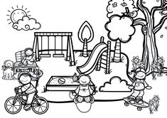 25+ Kleurplaat Kern 5 Pictures Playground Pictures, Space Party, Binder Covers, School Colors, Colouring Pages, Little Red, Colorful Pictures, Cute Drawings, Preschool