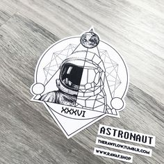 Dotwork geometric astronaut tattoo design for Mike (ig @goldfixe) Commissions: rawaf.shop/commissions