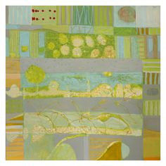 "Sally Bowring, ""Arrangement (Landscape)"", 2012, Acrylic on panel, 42 x 42 inches"