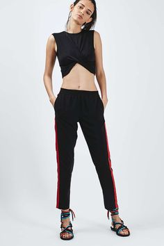PETITE Twist Front Crop Top
