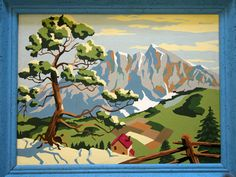 Take vintage paint by numbers, cut into ornament shapes, and use to decorate a tree... Let your imagination take flight!