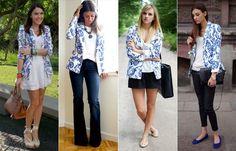 blazers femininos com saia, short, calça e vestido