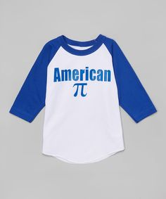 Look what I found on #zulily! Beary Basics White & Blue 'American π' Raglan Tee - Toddler & Boys by Beary Basics #zulilyfinds