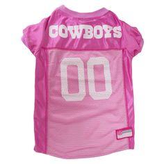Dallas Cowboys Dog Jersey - Pink Football Jerseys 2634ae3af