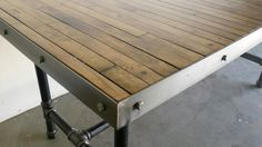 Industrial Steel and Repurposed Maple by Industrialsalvation