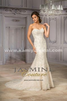 Only - $359.00 Jasmine T182009 Embroidery western bridal gown [Jasmine-T182009] Jasmine Couture bridal gown in…