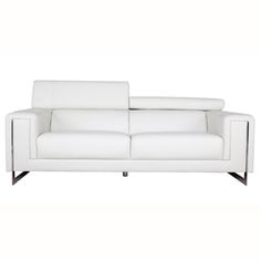 @Overstock - Make your living room more comfortable with this stylish Carter leather sofa. This sofa offers a smooth Cream White color with chrome legs, it also offers a luxurious bonded leather surface every where your body touches.  http://www.overstock.com/Home-Garden/Carter-White-Bonded-Leather-Sofa/7025503/product.html?CID=214117 $765.99