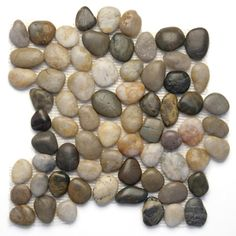 Solistone Anatolia Pebbles Multi Color Natural x Polished Pebble Mosaic Floor and Wall Tile at Lowe's. Design an atmosphere inspired by earthy elements with this decorative pebble mosaic tile. Composed from natural river rocks, an assortment of multicolor Pebble Mosaic Tile, Pebble Floor, Pebble Stone, Stone Tiles, Pebble Art, Outdoor Flooring, Stone Flooring, Outdoor Walls, Indoor Outdoor