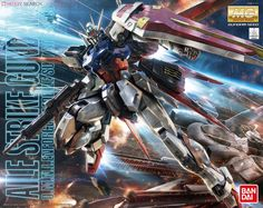 MG Aile Strike Gundam Ver. RM Model Kit from the anime Mobile Suit Gundam Seed by Bandai.  https://www.theanimetropolis.com/product/mg-1100-aile-strike-gundam-ver-rm-model-kit/