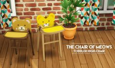| The Chair of Meows |Finally I have returned with some CC for you all. I've had the most uninspired weeks ever, where I just couldn't find the fun in making new content or playing the game, but the precious little beings called toddlers seem to have...