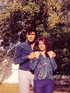 Elvis and Priscilla Presley photographed in 1968.