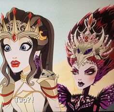 Snow White and Evil Queen  DRAGON GAMES ( Ever after high)