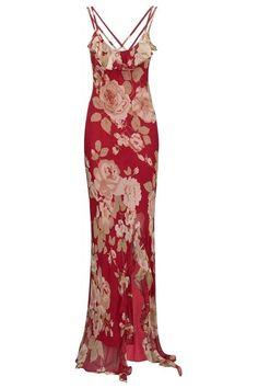 Lola Maxi Dress #PrettyEccentric #LadyinRed #Red #Maxi #Dress #Vintage #Floral