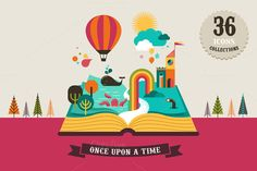Magic Book with huge icons set by Marish on @creativemarket