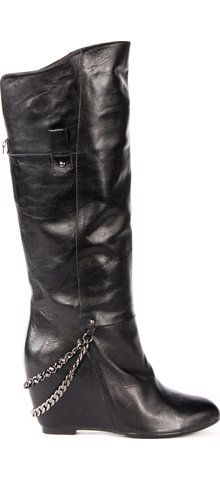 Hot wedge boots