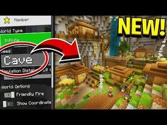 NEW CAVE VILLAGES UPDATE in Minecraft! (Pocket Edition, Xbox, PC) - YouTube