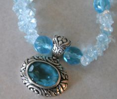 SUPER Jewelry SALE Blue SAPHIRE Silver 925 Glass Bead Necklace 10% Discount by BESTBUYONLINES, $25.00  SOLD