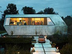 concrete modern home