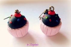 Sweet earrings / Pendientes Dulces €6.00   https://www.etsy.com/es/listing/162879835/pendientes-dulces-en-fimo  #Cupcakes #sweets #pendientes #earrings #bisuteria #moda #fashion #pastel #girl #original