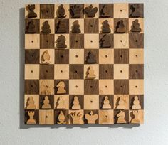 I like the idea of a wall-hanging chess set – it doesn't take up space on your tables so you can take your time to play a game. It also has the secondary function of wall art/decoration…