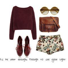 sweater+cute shorts