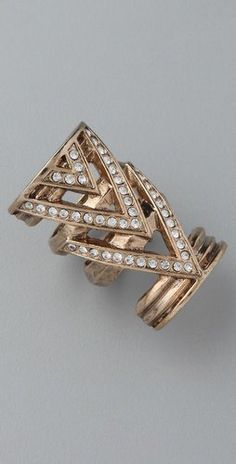 House of Harlow 1960 Chevron Ring