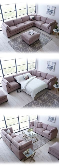 The Isabelle corner sofa bed is perfect for unique spaces. A comfortable, spacio… The Isabelle corner sofa bed is perfect for unique spaces. Living Room Sofa Design, Home Living Room, Living Room Designs, Living Room Decor, Corner Sofa Living Room, Extra Large Corner Sofas, Large Sofa, Large Sectional, Sectional Sofas