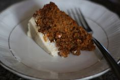 Spelt Carrot Cake with Ricotta Maple Frosting - I have not used this recipe, but had it pinned on another board. It looks like a good one. I would sub coconut oil for the olive oil, though.