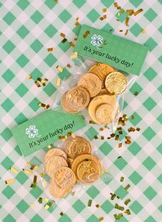 Printable Coin Bags at One Charming Party. Image by Sara for One Charming Party