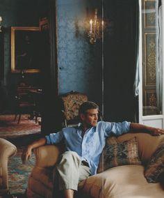 George Clooney at Villa Allamel ~ Old World Elegance
