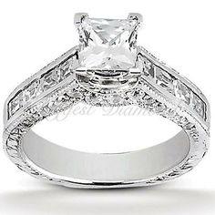 Princess Cut Engagement Rings Four Carat 39
