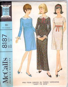 60's McCalls 8187 Sewing Pattern Dress 33 Bust by retromonkeys, $12.00