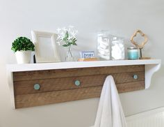 DIY Farmhouse Shelf Tutorial + A Bathroom Refresh - thecraftpatchblog.com #diy #diyplans #woodwork #farmhouse #shelf #bathroomremodel