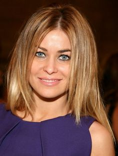 First, you can rock a center-parted layered haircut. Graduated layers will make the look livelier. Women with thick hair are great wears of this haircut.