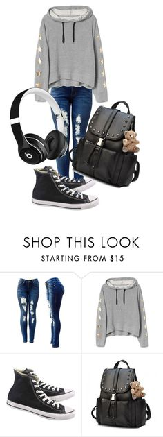 """Statement Airport Outfit"" by april-3-baxter ❤ liked on Polyvore featuring Converse, Beats by Dr. Dre, contest, airportstyle and StatementOutfit"